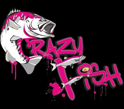 logo CRAZY FISH original 1000
