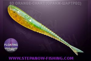 crazy fish glider 5cm 5d orange chart
