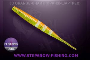 crazy fish polaris floating 10cm 5d orange chart