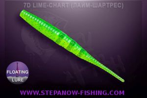 crazy fish polaris floating 10cm 7d lime chart