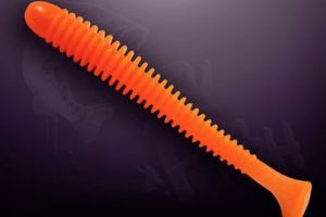 crazy fish vibro worm 7,5cm kolory 64 fluo orange