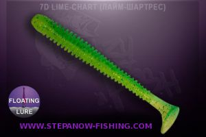 crazy fish vibro worm floating 8,5cm 7d lime chart